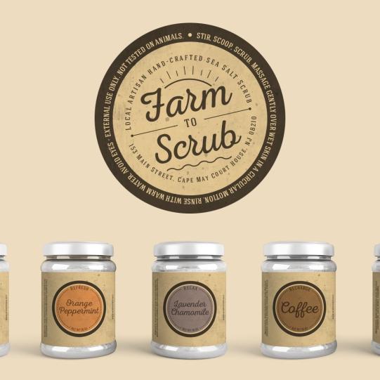 Farm to Scrub Sea Salt Scrubs