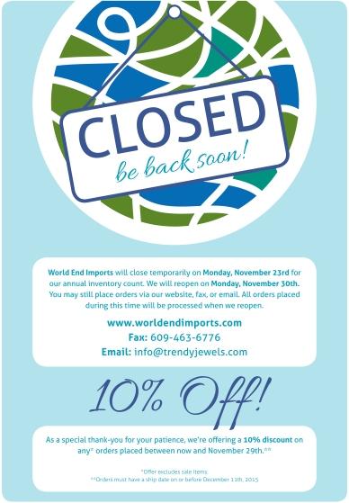 2015 Temporary Closing